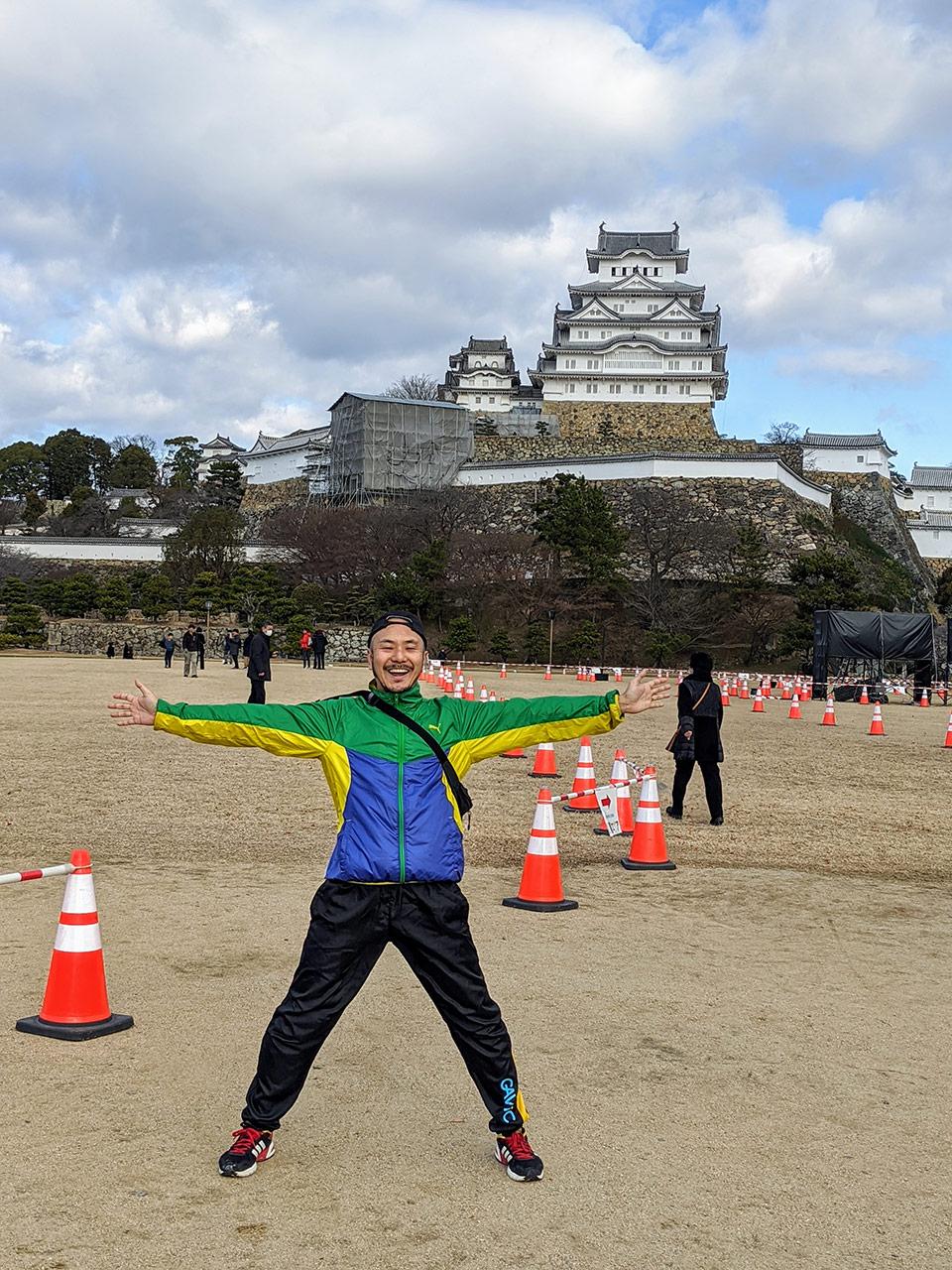 ロックオン柳田と姫路城